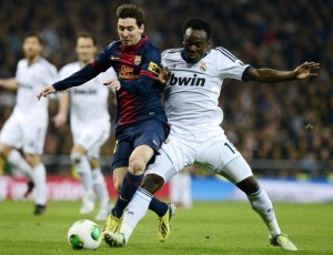 Essien bodychecked the Argentine star off the ball as he had the world's best player in his pocket and owned the best player in the world time and again.