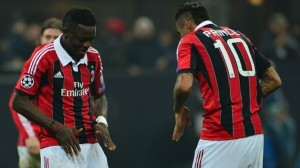 See pictures of Kevin Prince Boateng and Sulley Muntari as they celebrate AC Milan's famous win over Barcelona