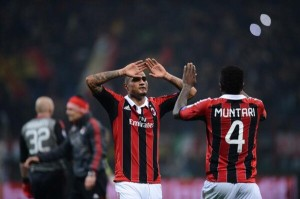 Pictures: See pictures of Sulley Muntari and Kevin Prince Boateng in AC Milan's famous win over Barcelona
