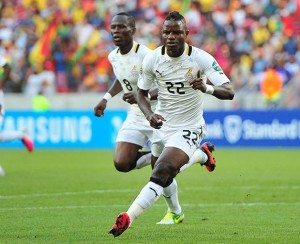 De Black Stars of Ghana don become de fess team wey go waka reach de semi final of de ogbonge 2013 African Nations cup wey dey go on for South Africa.