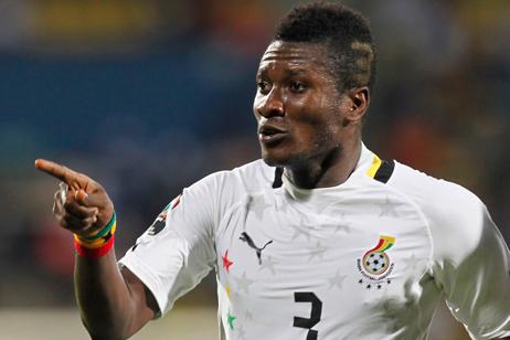 Asamoah Gyan picked up a thigh injury in Ghana's 4-0 win over Sudan