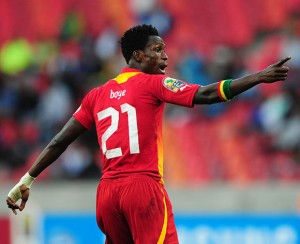 John Boye wants home advantage to count against Sudan