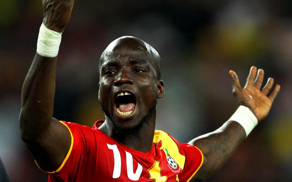 Former Ghana captain Stephen Appiah was bullied at the Baba Yara Stadium during Ghana's World Cup qualifier against Sudan on Sunday