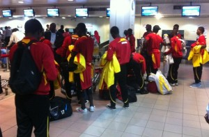 Ghana U20 team arrive in Algeria