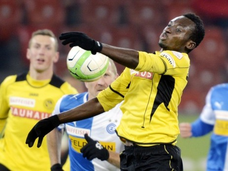 Ghana's Samuel Afum in action for Young Boys Bern during their 0-0 draw with FC Sion in the Swiss Super League on Sunday