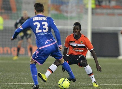 Mohammed Abu in action for Lorient