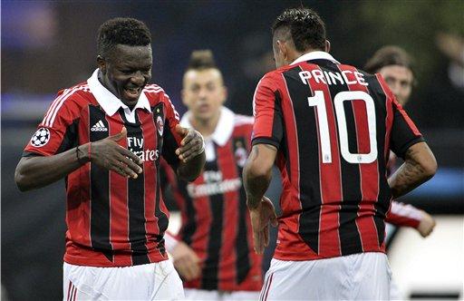 Muntari, Boateng in Milan squad to face Genoa tonight