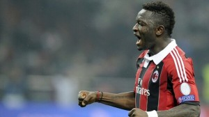 "Sulley Ali Muntari insists Milan ""must always target first place"" rather than second in Serie A, even though they are 11 points behind Juventus."
