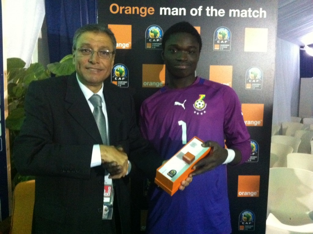 Black Satellites goalie Eric Ofori Antwi picks MVP after AYC semis win