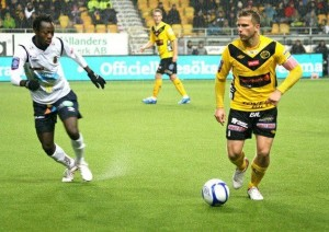 Joachim Adukor in action for Gefle