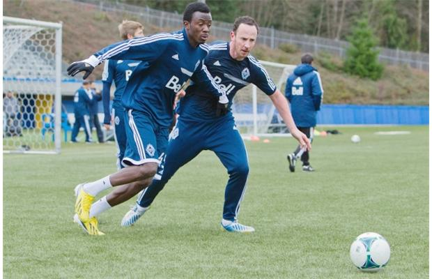 Aminu Abdallah in action for Whitecaps Reserves