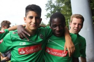 Andy Akoteng-Bonsrah with his Monchengladbach team-mates