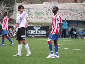 Atletico Madrid's 18-year-old goal poacher, David Tetteh, has netted 11 times this season in the Spanish fourth-tier league