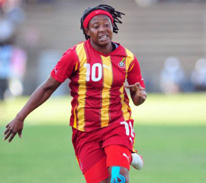 Adwoa Bayor in action for Ghana's women national team.