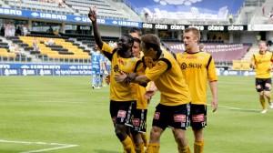 Ernest Asante scored the only goal of the game for IK Start