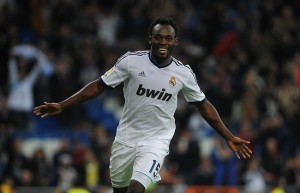 Michael Essien's Real will face Dortmund