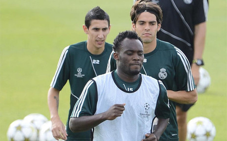 Essien steps up recovery in Real Madrid's gym