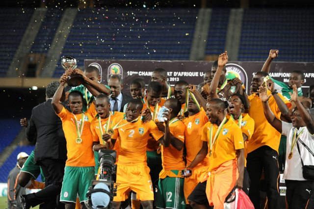 Ivory Coast celebrating their first African U17 Championship.