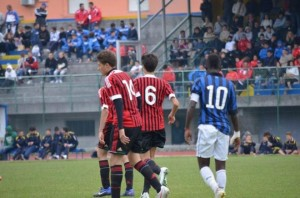 Justice Opoku, 10-shirted, is the captain of the Inter Milan U16