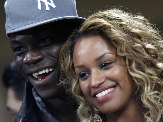 Mario Balotelli with his girlfriend Fanny Neguesha