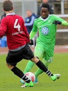 Razak Iddrisu of Wolfsburg