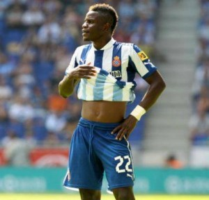 Wakaso Mubarak came off the bench to score and provide an assist for Espanyol who beat Osasuna to better their survival hopes