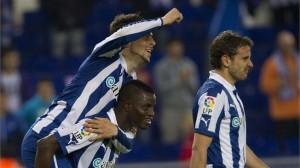 Wakaso Mubarak helped Espanyol to win in Spain