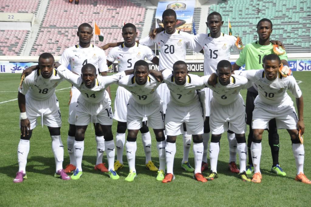 Ghana U17 starting line-up against Ivory Coast.