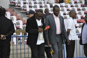 Chairman of Ghana's U17 management committee Fred Crentsil (left) and Kofi Nsiah.