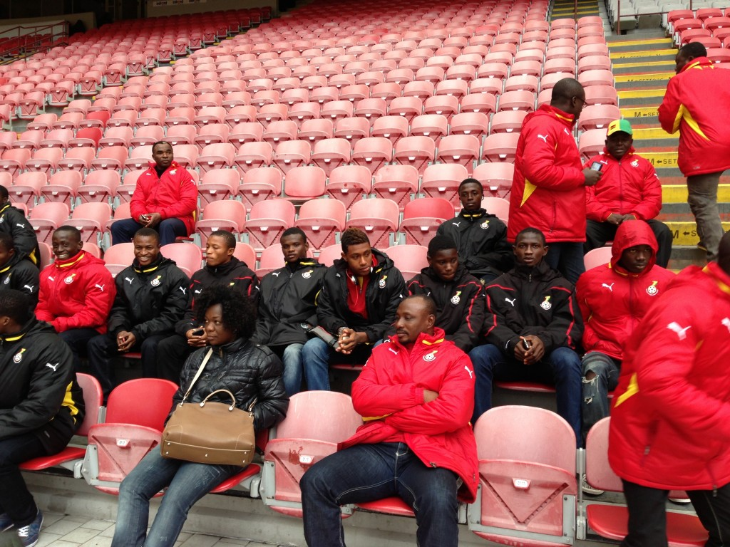 Black Starlets in the stands at the San Siro.
