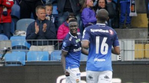 Bismark Adjei-Boateng scored a double for Stromsgodset in Norway