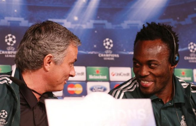 Essien and 'daddy' Mourinho