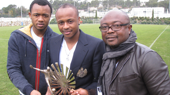 Abedi Pele with his sons; Andre and Jordan Ayew