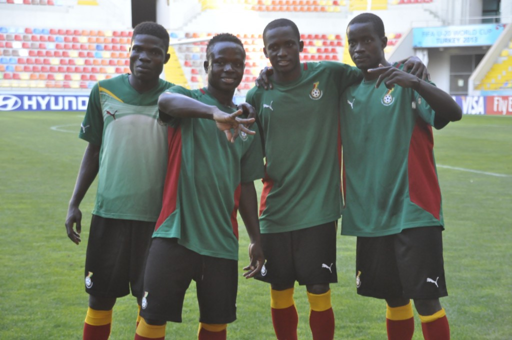 Ghana's U20 final training in Kayseri ahead of playing USA.