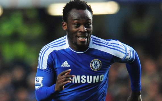 Michael Essien in action for Chelsea.