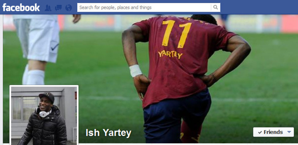 Ishmael Yartey's facebook cover picture is causing anger among Sion fans