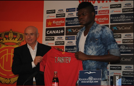 Ghana youth international Thomas Partey joins Real Mallorca on loan
