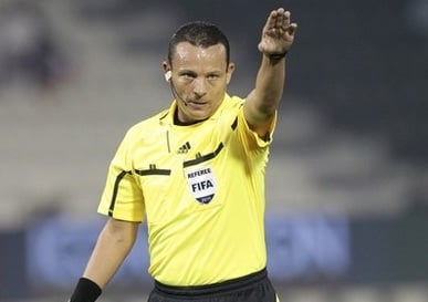 Tough Algerian referee Haimoudi Djamel has been named for September 2014 World Cup qualifying decider between Ghana and Zambia in Kumasi.