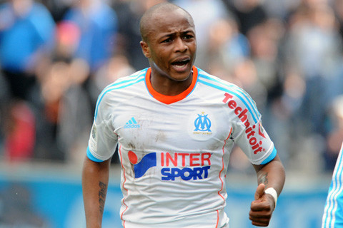 Andre Ayew back training at Olympique Marseille