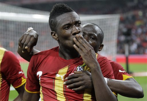 Asamoah Gyan hit a brace to save Ghana