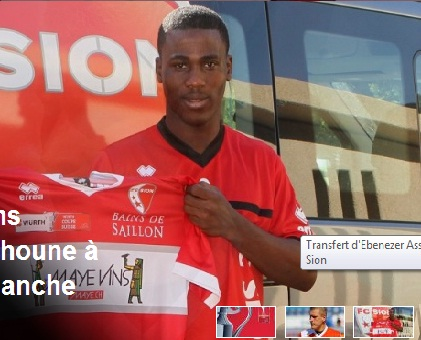 Ebenezer Assifuah marked his debut for FC Sion