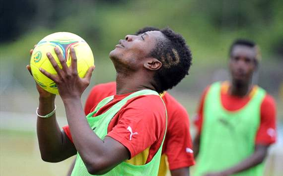 Gyan is looking ahead to the game against Zambia