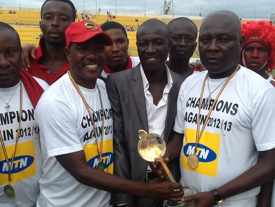 Henry Wellington (right) is no longer needed at Asante Kotoko