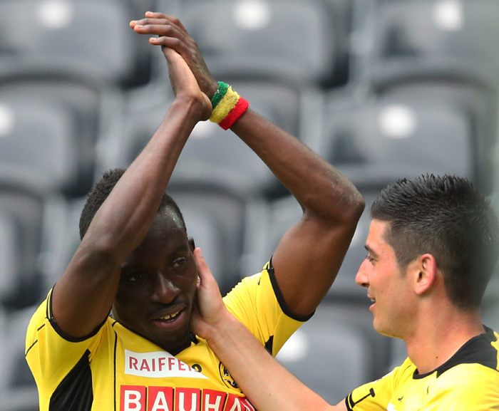 Samuel Afum scored a brace for Young Boys in their 8-0 win on Saturday