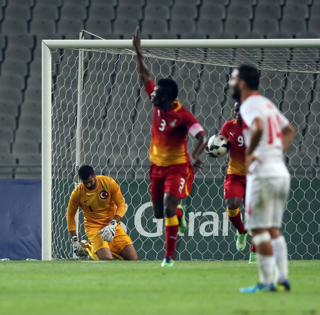 Asamoah Gyan celebrating goal against Turkey