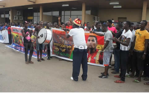 Exclusive Picture Gallery: Black Stars' arrival in Kumasi ahead of Zambia clash
