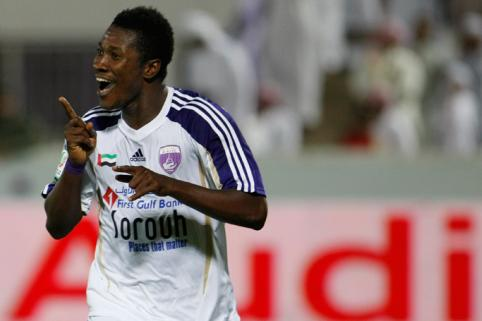 Asamoah Gyan is on the road to full fitness after scoring a double for Al Ain.