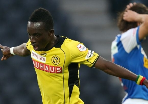 Samuel Afum headed the opener for Young Boys at Basel