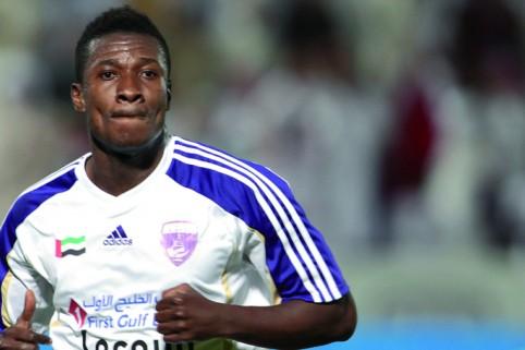 Asamoah Gyan scored a hat-trick for Al Ain on Sunday.