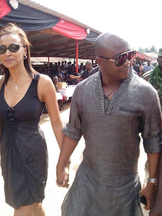Abedi Pele and his sweet wife Maha